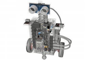 CAD Robot with Programmable LEDs