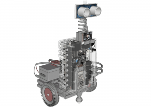 CAD Robot with Light Sensors